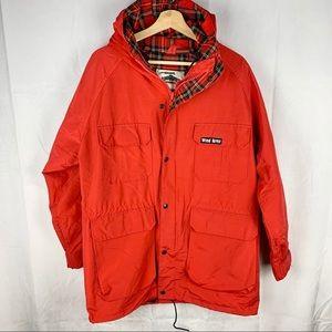 VINTAGE WIND RIVER red utility rain jacket SZ Med